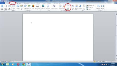 memberi nomor halaman word cara memberi nomor halaman di microsoft word 2010 dum17