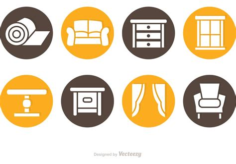 home interior vector circlular home interior icon vectors free