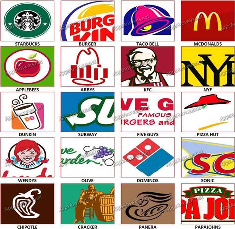 8 best images of restaurant logos and names games 8 best images of restaurant logos answers what