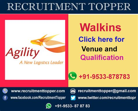 Logistics In Chennai For Mba Freshers agility logistics walkins for freshers at chennai