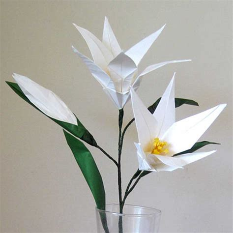 Origami Lilly - easter origami flower bouquet graceincrease custom