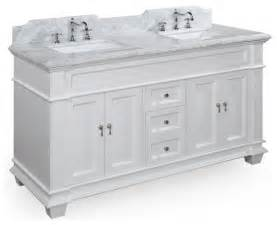 sink bath vanity carrara white traditional elizabeth  in double sink bath vanity carrara white traditional
