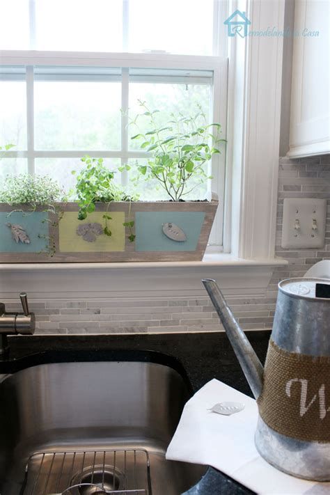 kitchen window herb garden build your own custom kitchen herb planter pretty handy girl
