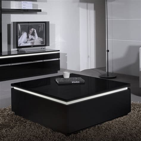 elisa coffee table square in gloss black with storage 19747