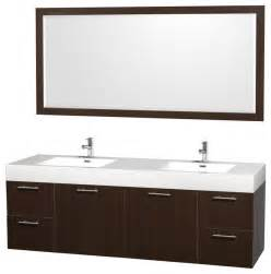 Acrylic Bathroom Vanity Tops Wyndham Collection 72 Quot Amare Espresso Sink Vanity W