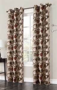 large pattern curtains the jupiter grommet curtains has a large scaled multi