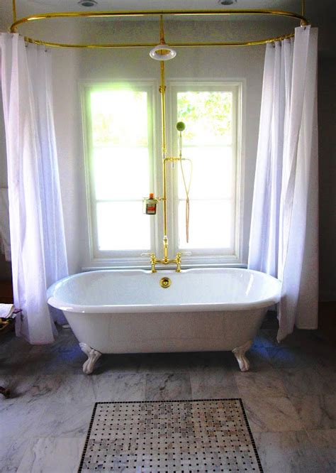 Clawfoot Tub Shower Curtain by Shower Curtain Rod For Clawfoot Bathtub Decor Ideasdecor Ideas