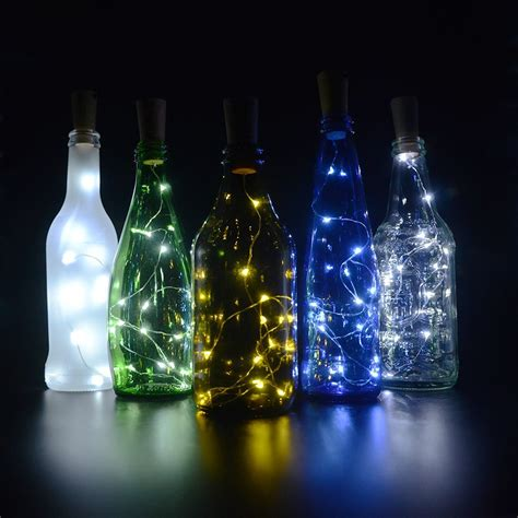 bottle service led lights cork lights for wine bottles 6 pack bizoerade 30inch