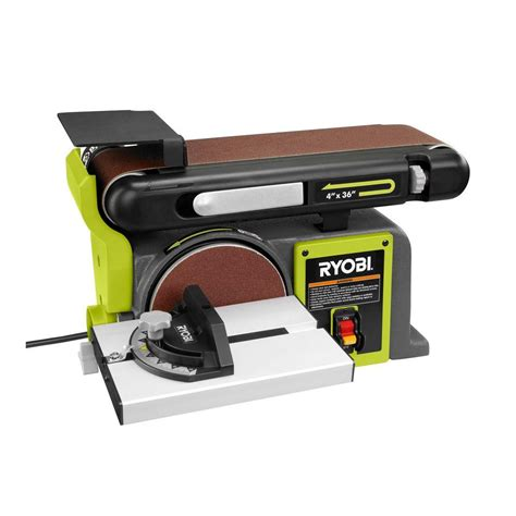 bench belt sander reviews ryobi 120 volt bench sander green bd4601g the home depot