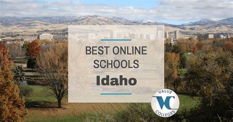 Boise State Mba Ranking by Top 10 Best Colleges In Idaho Value Colleges
