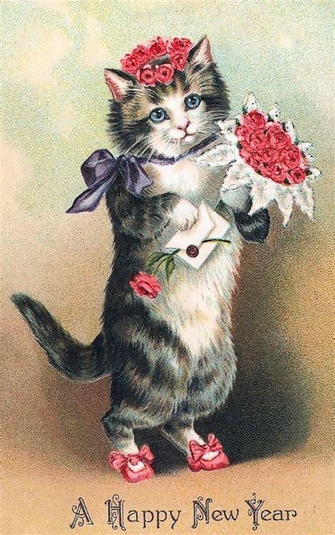 new year cat images details about cat flowers purple bow quilt block