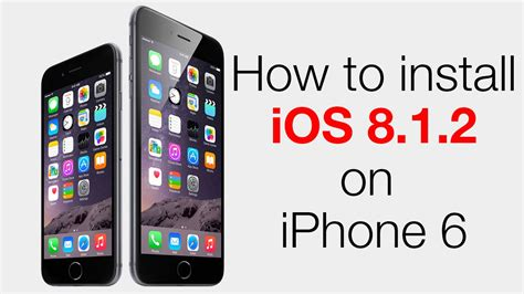 how to update and install ios 8 iphone ipad ipod touch installing ios 8 1 2 update on iphone 6 youtube