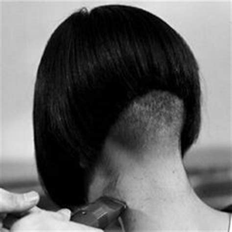 severe wedge haircut severe a line bob with shaved nape severe a line hair