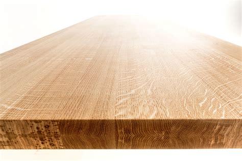 tafelblad op maat laten zagen massief eiken houten tafel strak en slank op maat gemaakt