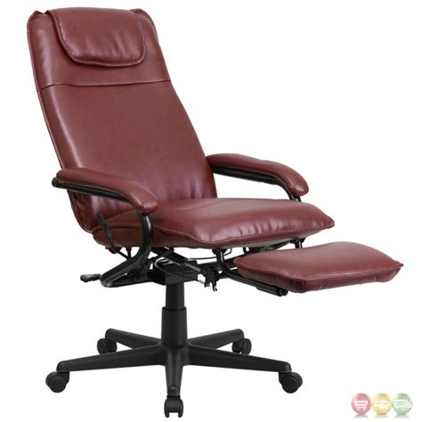 burgundy leather office chair high back burgundy leather executive reclining office