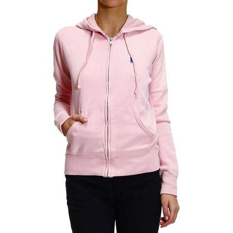 Sweater Ori Fleace Tebal ralph sweater knit fleece or hooded fleece zip with melange in pink lyst
