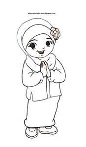 mewarnai gambar kartun anak muslimah 46 alqur anmulia