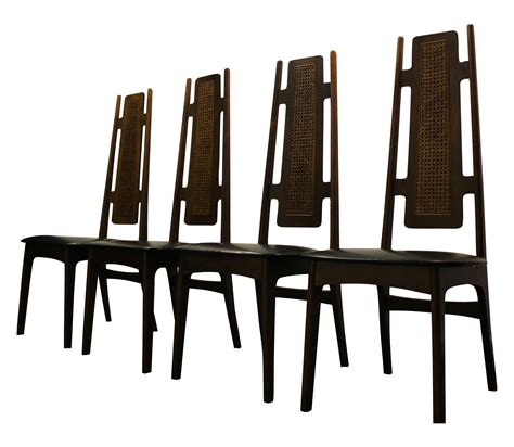 mid century modern high back dining chairs mid century modern high back dining chairs 4 chairish