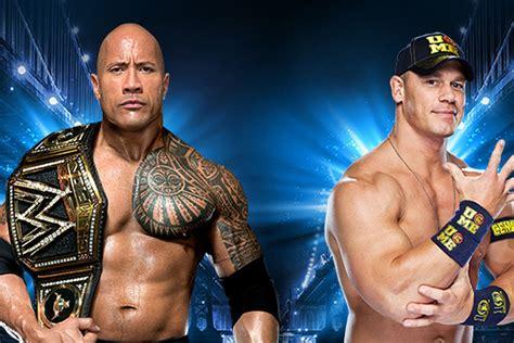 dwayne johnson the rock vs john cena the rock vs john cena wrestlemania 29 main event match
