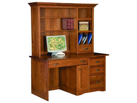 Computer Desks Amish Furniture By Brandenberry Amish Mission Style Computer Desk With Hutch