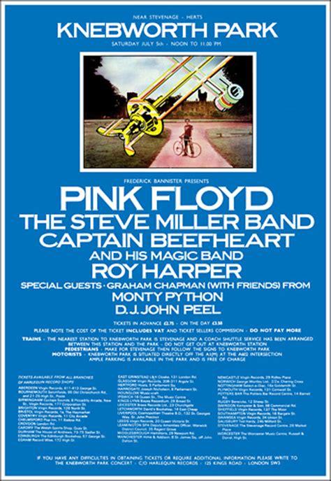 pink floyd  knebworth concert poster