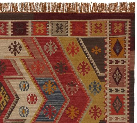 Kilim Outdoor Rug Recycled Yarn Kilim Indoor Outdoor Rug Pottery Barn