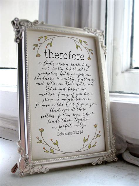 Wedding Bible Verses Colossians by Wedding Quote Colossians 3 12 14 Printable Bible Verse Wall