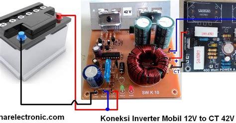 Inverter Mobil 12v Dc To 24v Ct 24v Dc Step Up Converter Tegangan Dc 1 Bahar Electronic Cara Memasang Inverter Mobil 12v To Ct 42v