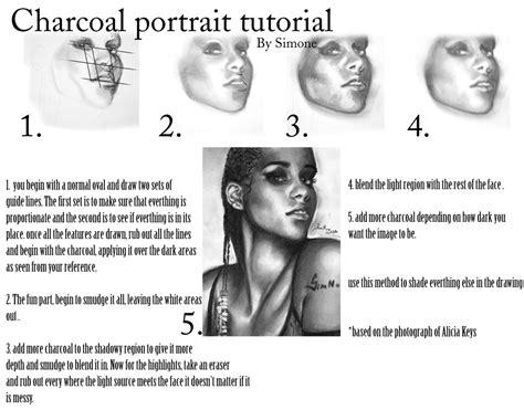 line art portrait tutorial charcoal portrait tutorial by graysim on deviantart
