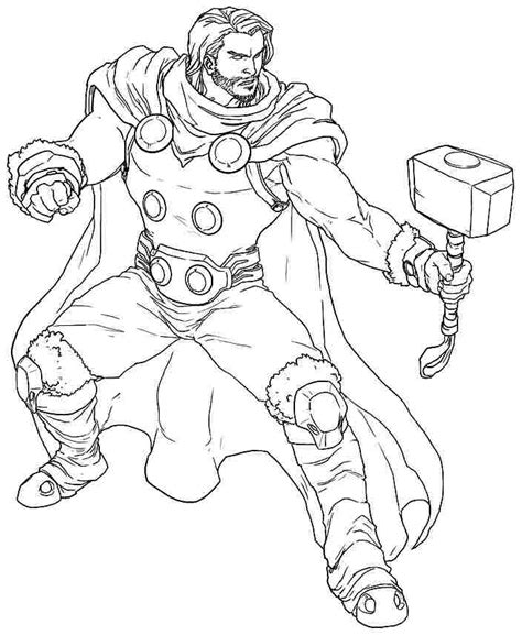 marvel coloring pages thor thor coloring pages bestofcoloring com