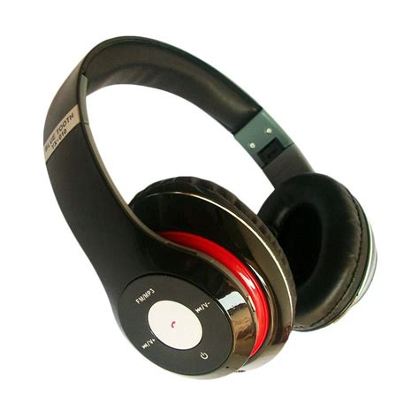 Headset Beats Terbaru harga universal tm 13 headset beat studio bluetooth with fm radio merah pricenia