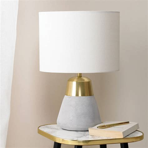 Bedside Floor Lamp concrete and gold table lamp by primrose amp plum