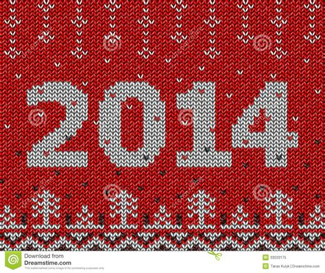 new year texture vector card of new year 2014 with knitted texture stock vector