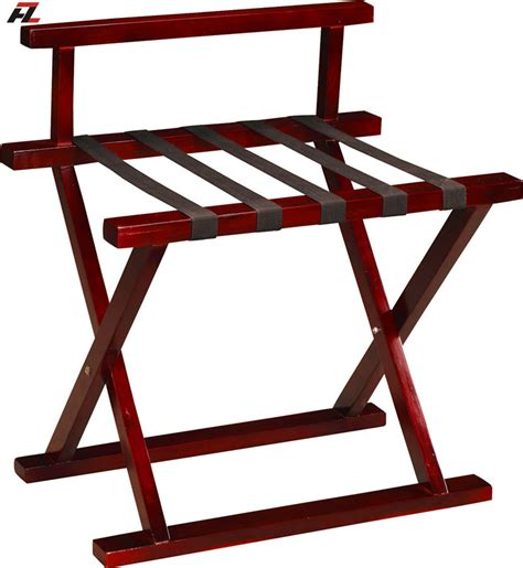 Folding Suitcase Rack by Hotel Solid Wood Folding Luggage Rack Guestroom Luggage