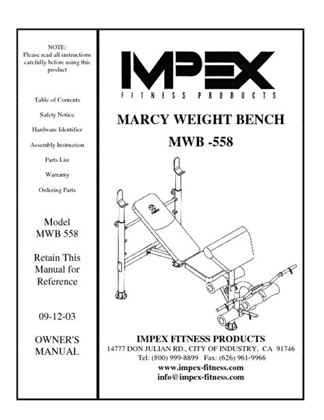 marcy weight bench assembly instructions marcy weight bench assembly instructions home gym users