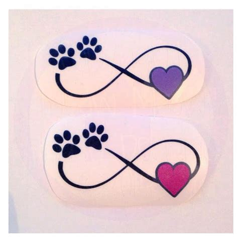 paw print infinity water color infinity with paw print and decal many color options