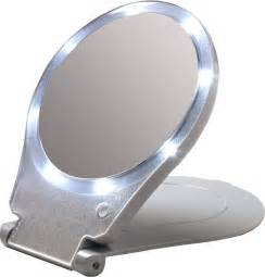 Makeup Mirror With Lights Travel Size Lighted Compact Mirror Travel Portable Light Purse Pocket