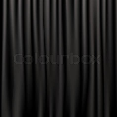 black satin curtains black silk curtains stock photo colourbox