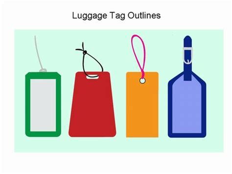 luggage labels template luggage tag template clipart 43