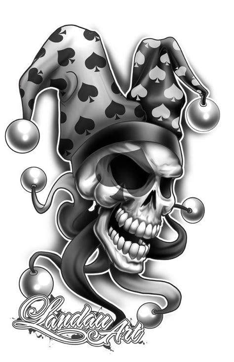tattoo skull joker 40 best clown tattoo designs