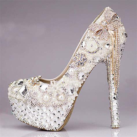 2015 luxurious bowtie rhinestone ultra high heel shoes
