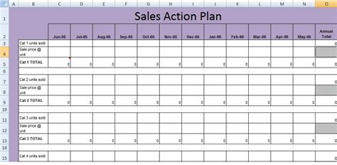 Get Sales Action Plan Template Xls Free Excel Spreadsheets And Templates Sales Plan Template