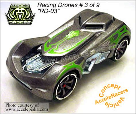 Hotwheels Rd 03 wheels 2005 acceleracers racing drone 3 9 rd 03 new in