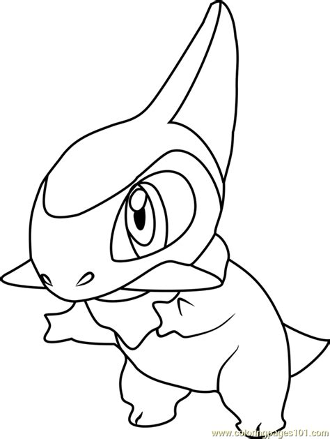 axew pokemon coloring page free pok 233 mon coloring pages