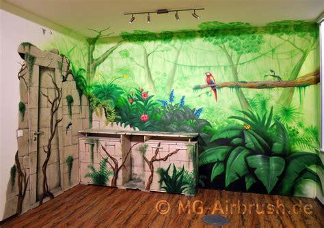 Daycare Rug Jungle Mural Painting By Mg Airbrush On Deviantart