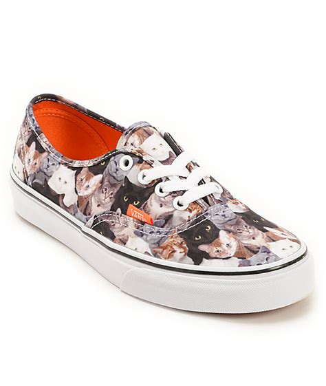 sneakers with cats on them vans x aspca authentic cats shoe at zumiez pdp