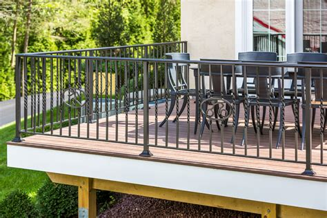 replace a wrought iron deck railing with wood doherty house