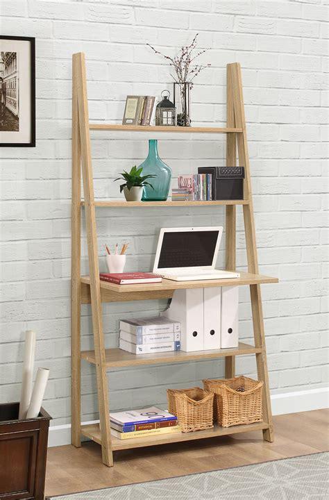 Ladder Shelving Unit With Desk by Birlea Nordic Scandinavian Retro Ladder Bookcase Desk
