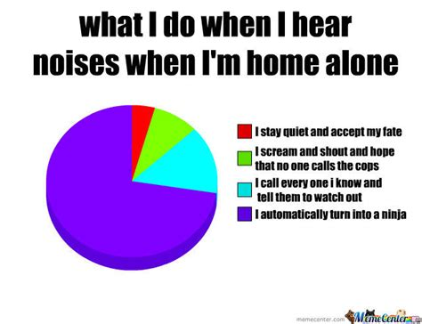 what i do when i hear noises when im home alone by