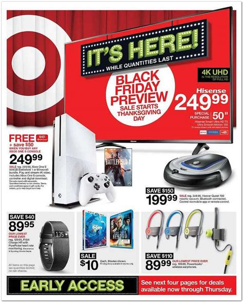 Target Gift Card Black Friday - target s black friday ad includes deals for battlefield 1 titanfall 2 xbox one s